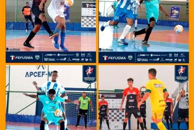 Bola rolando no Campeonato Maranhense de Futsal Adulto Masculino